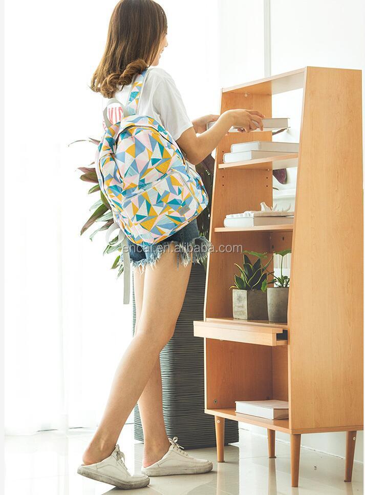 Encai Foldable Traveling Bag Fashion Printing Backpack