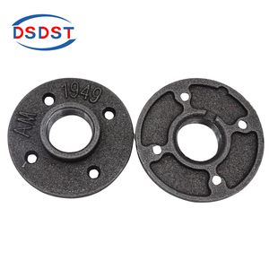 Cast iron Floor Flanges 4-holes Reinforced Flanges Base Female Thread Connect Pipes Industry Style Flanges