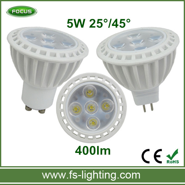 Lamp LED Spotlight GU10 MR16 5W GU5.3 2700K Dimmable