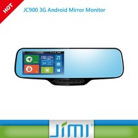 smart dual lens car camera JIMI new JC900 google navigation rearview mirror DVR