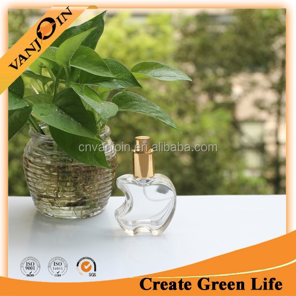 30ml Glass Apple Shaped Perfume Bottle With Gold Sprayer
