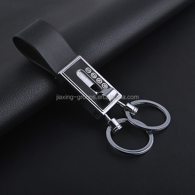 Leather car keychain,custom leather key fob with brand logo