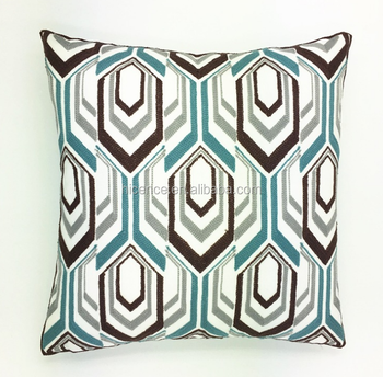 Geometric Style Knitting Embroidery Cushion Cover