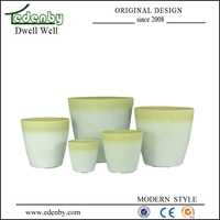 Modern glass flower pot paintings wholesale