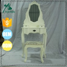 wooden panel resign replicite white dressing table