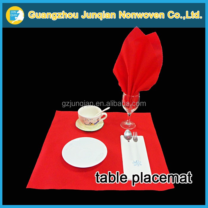 Customized Nonwoven Table Placemat Materials High Quality Spun Bonded Non Woven Fabric Hotel Table Cloth