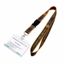 Promotional sublimation heated transfer printing polyester neck lanyard with custom logo for ID card holder