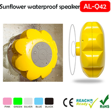 Portable Rechargeable bathroom Outdoor Use Covers Water Resistant Round Waterproof Bluetooth Stereo Shower Speaker