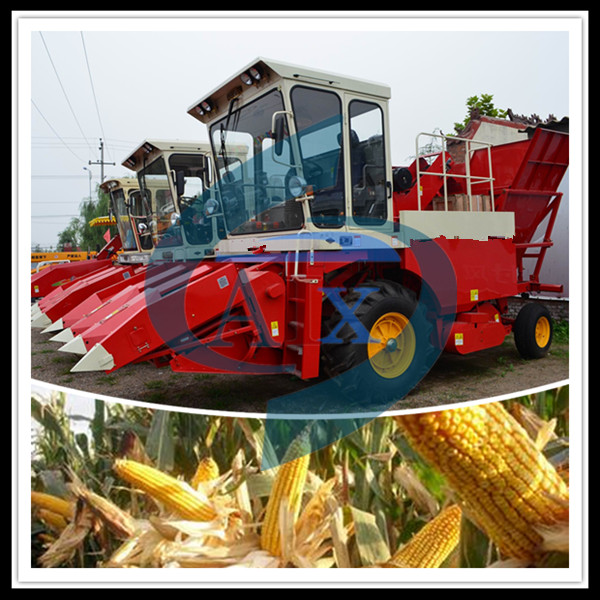picker and peeling function mini corn combine harvester for sale