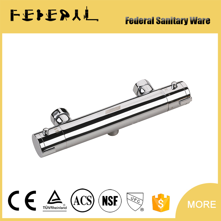 High quality brass body thermostatic cartridge in-wall concealed valve shower faucet