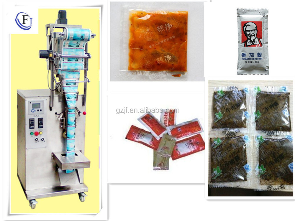 tomato paste sachet packing ketchup packaging machine for wholesales