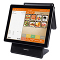 "15"" touch screen pos system with10.4"" second screen"