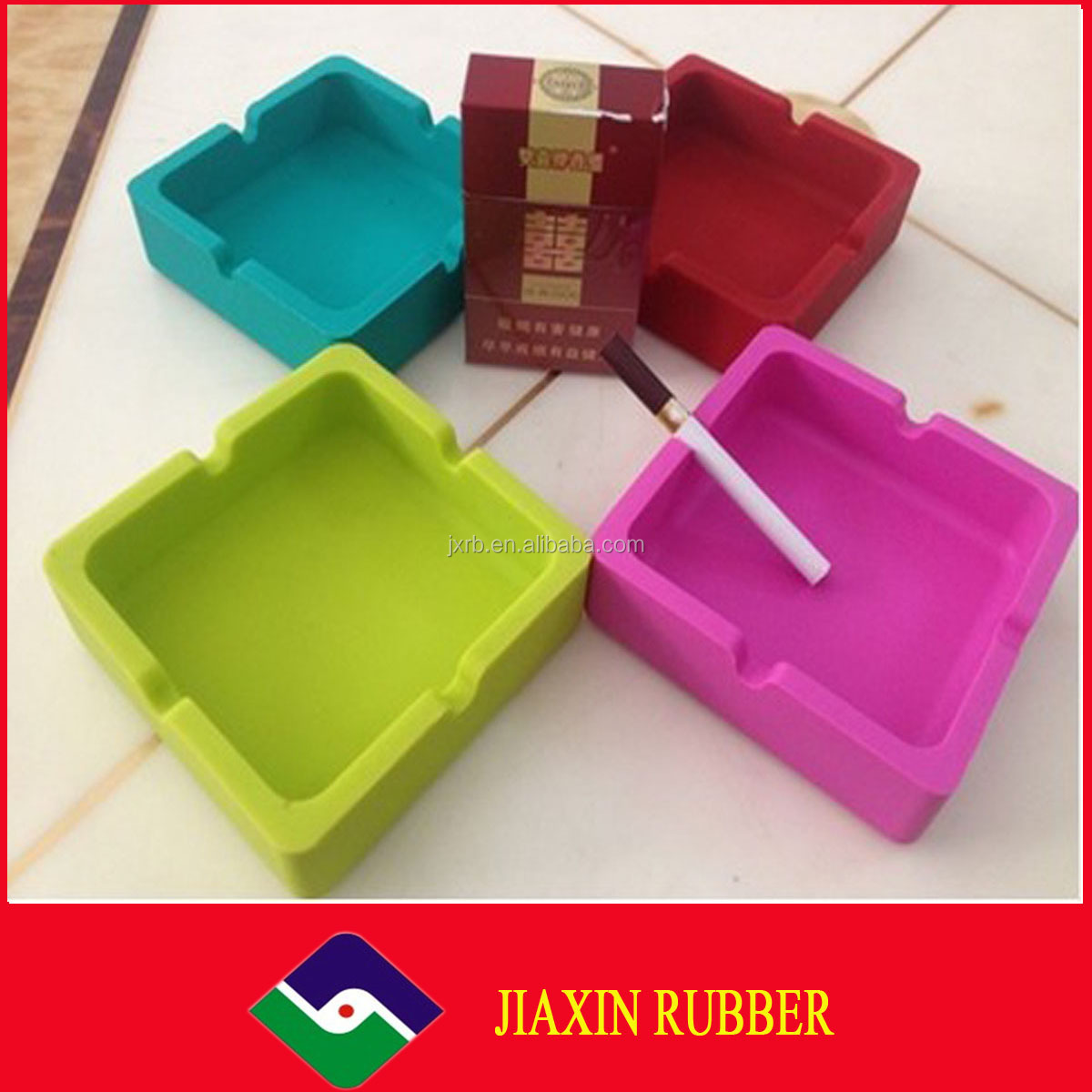 2014 new style oval melamine/silicone/pvc flower pot ashtray