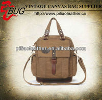 High quality waxed canvas and leather brief case