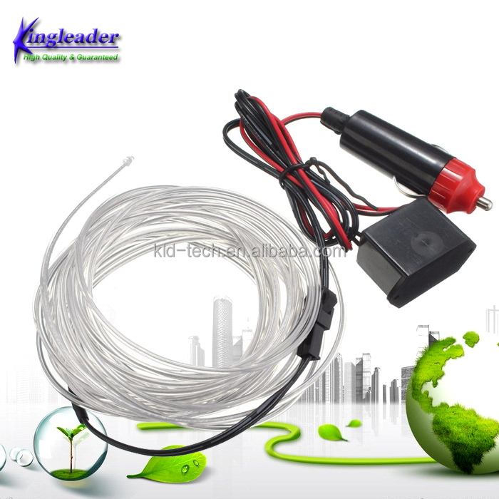 5M Kits Flexible Led Neon Light Glow EL Wire Rope Tube Cable+12V with Cigarette Lighter