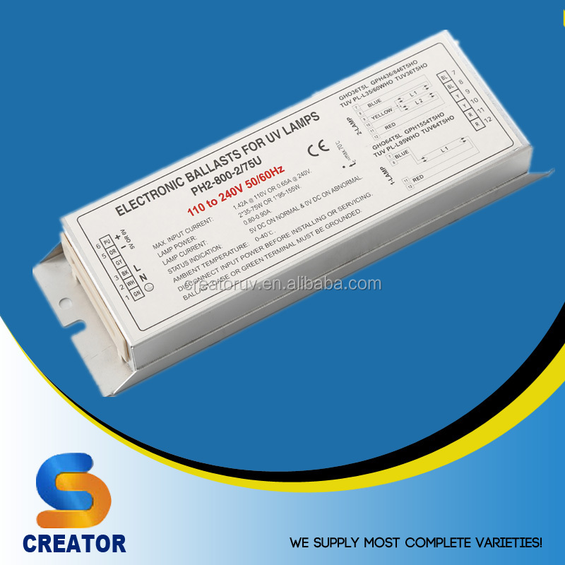 Creator manufacturer PH2 series 47-91W 78-167W T5 UV lamp UV Electronic Ballast