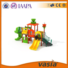 Huaxia Petals Roof Double slide Outdoor Toys Playground Equipment for kids