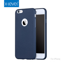 X-Level Trendy Imported TPU Material Blue Mobile Phone Case for Iphone 6S, Drying Grain Texturing Protective Back Cover