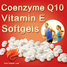 OEM 500mg Skin Care Capsule Coenzyme Q10 and Vitamin E Soft Gels