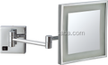 square mounted makeup mirror with led