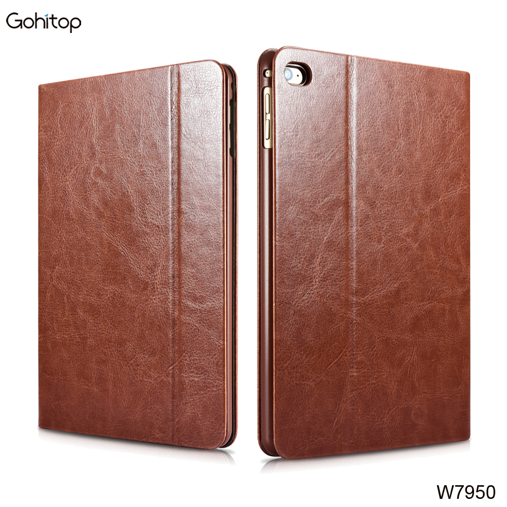 PU Leather Stand Case for iPad Mini 4 Smart Flip Cover with Wake Up Function