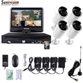 4CH Wireless NVR ONVIF Security 720P IR Outdoor system with 2TB HDD Monitor KIT