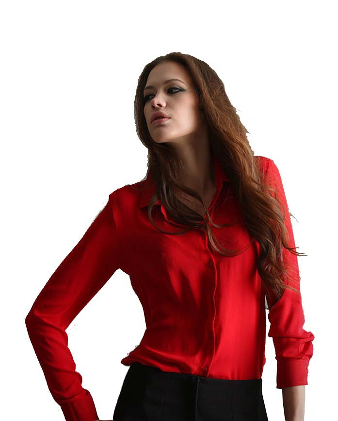 Red shirt for women sexy