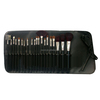 fashion professional 17pcs high quality goat hair black colour handle make up cosmetic set