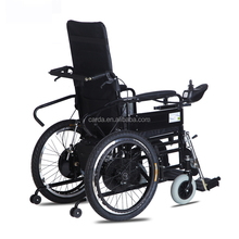 disc brake aluminum reclining wheelchair/adults/disabled wheel chair/ electric wheelchair double motor