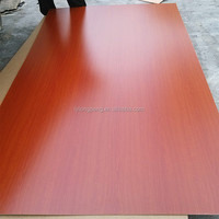 Lowest price cherry color wood grain melamine mdf to Apapa Nigeria