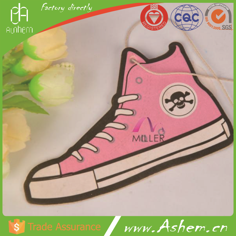 The best selling custom funny car air freshener with Logo printing IC-994