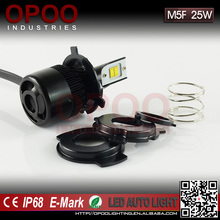 New Accessories 2800LM 25W Led Motorcycle Headlight, 3000K/6000K M5F Led Motorcycle Headlight