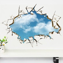 3D Mural Blue Sky Removable Wall Stickers for Wall and Ceiling
