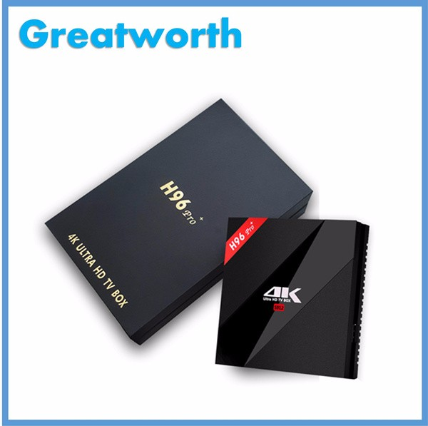 h96 pro plus 3gb 32gb Greatworth provide amlogic s912 octa cores streaming smart tv box with free i8 wireless keyboard backlit