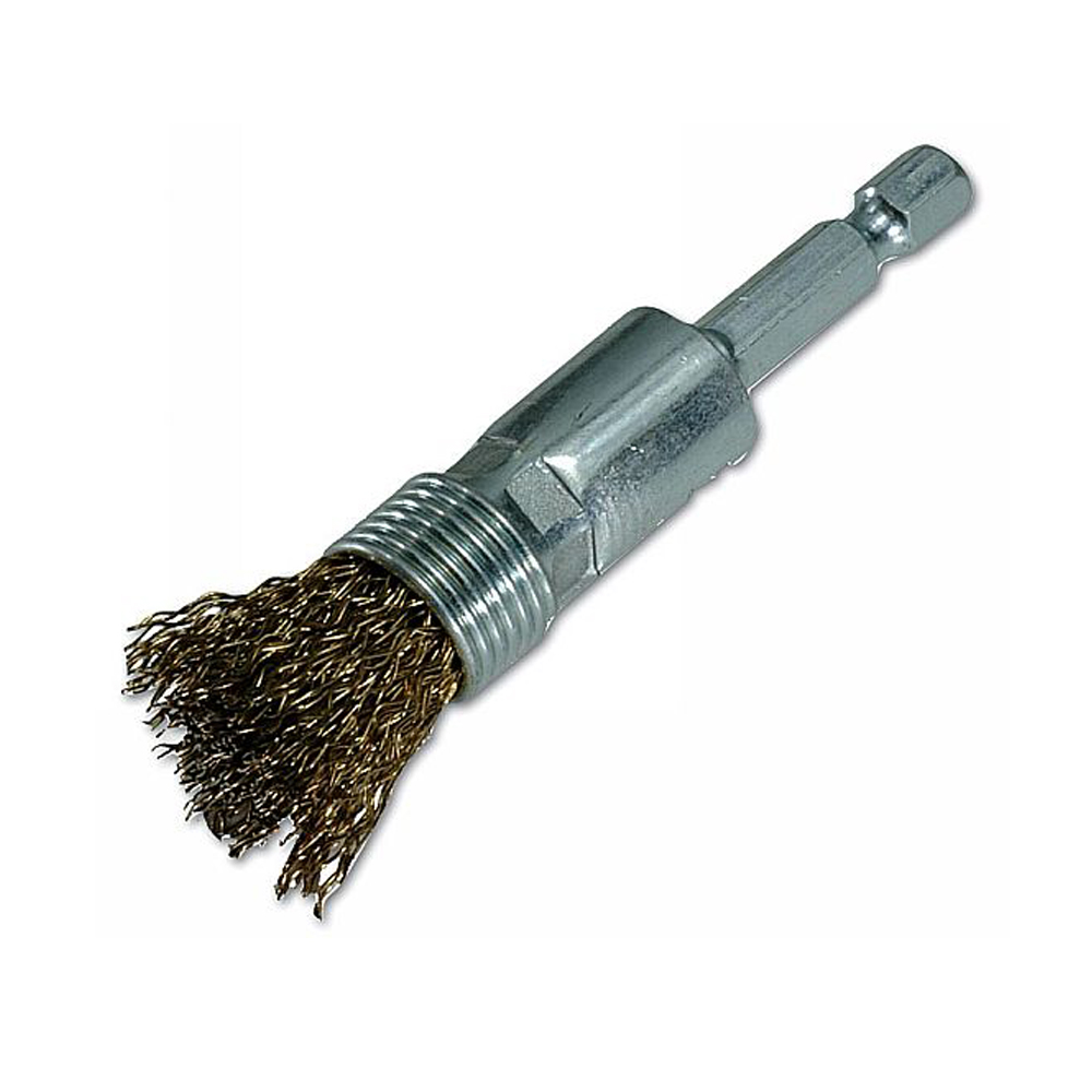 Crimped steel wire knot type end brush from good supplier