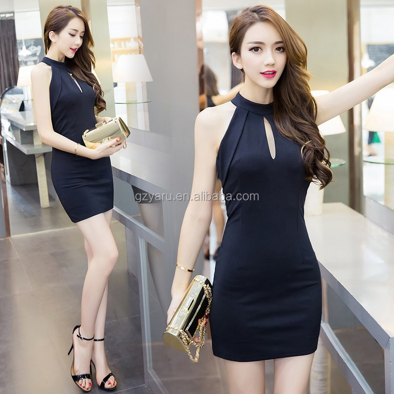OEM sexy night wrap skirt Halt Sleeveless Bodycon Mini Club Dresses for Women