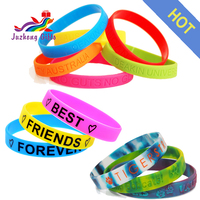 Personalized scented silicone bracelet, rainbow silicone wristband, colorful rubber wrist bands