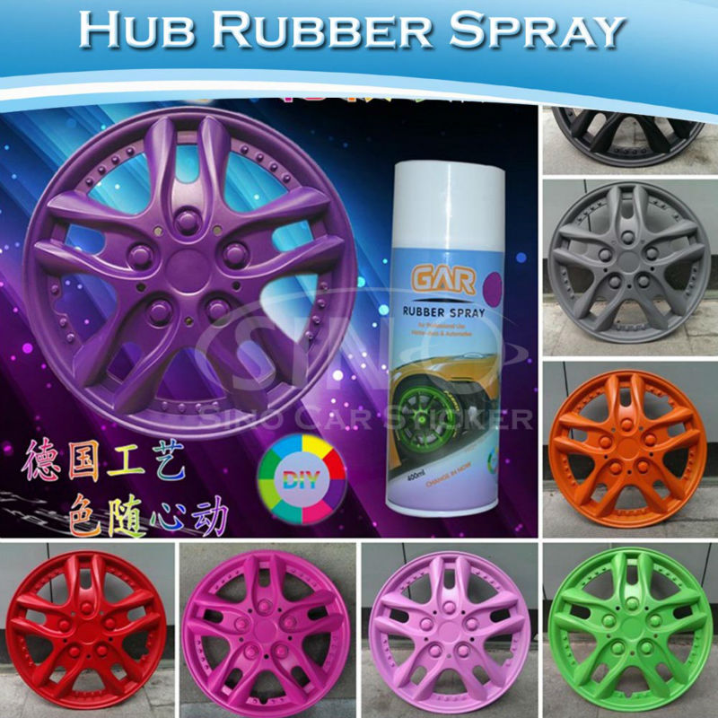 400ML/Bottle Car Wheel Decoration Removable Rubber Paint Spray For Car Wheel