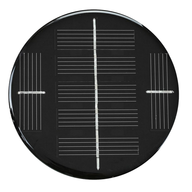 Custom made PET Laminated small size Solar panel for sale custom size solar cells 76mm 3V round solar panel epoxy laminated