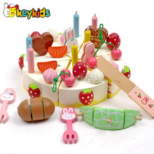 2016 wholesale baby wooden cutting cake toy, popular kids wooden cutting cake toy, hottest wooden cutting cake toy W10B103