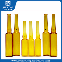 Eco-friendly material drinkable ampoule amber glass bottle/ vial 10ml 5ml