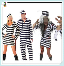 Cheap Adult Party Fancy Prisoner Halloween Costumes HPC-3144