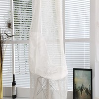 New unique linen curtain fabric material for towel embroidered window drapes
