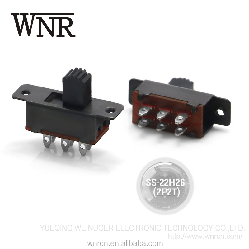 Environmental two way slide 6 pin micro switch,electronic toggle switch SS-22H26(2P2T)