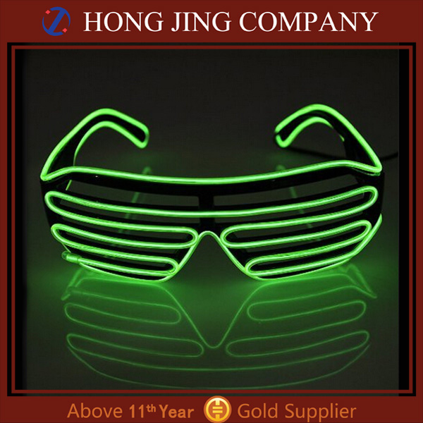 EL glasses el wire led light up flashing shutter shaped glasses