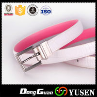 Fancy White Wholesale Pu Thin Crocodile Leather Belt