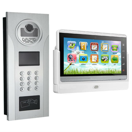 7'' capacitive touch screen TCP/IP Video door phone with Android system and multi applications