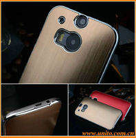 Electroplating brushed cell phone case for HTC M8,back cover with PC material