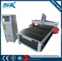 machine cnc wood lathe with air water cooling spindle China vacuum or T-slot table DSP control system woodworking