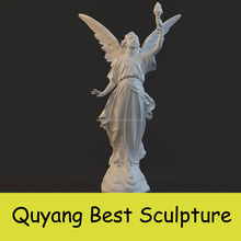 Low Price Life Size Resin Angel with Wing Statue Sculpture